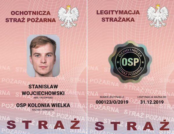 legitymacja strażaka OSP