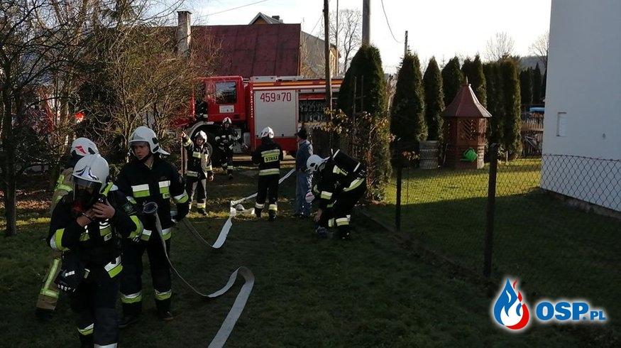 POŻAR NA PODDASZU OSP Ochotnicza Straż Pożarna