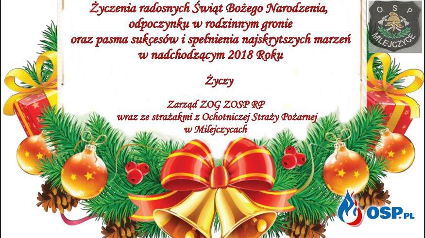Życzenia świąteczne  OSP Ochotnicza Straż Pożarna