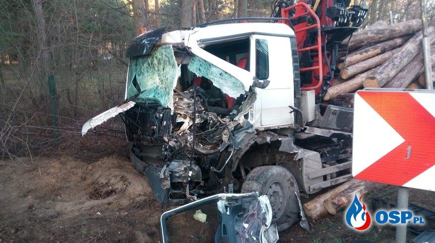Wypadek dwóch tirów na Fryszerce OSP Ochotnicza Straż Pożarna