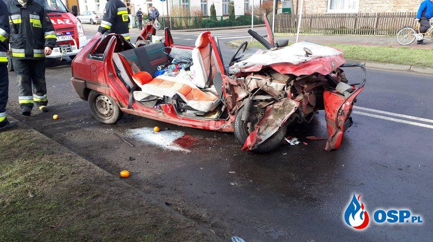 Wypadek na drodze wojewódzkiej nr 181 w Drawsku OSP Ochotnicza Straż Pożarna