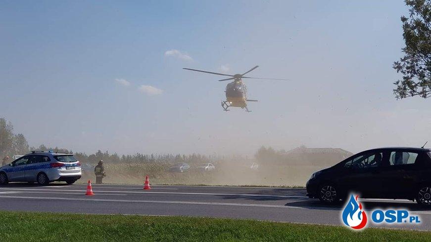 Udzielał pomocy poszkodowanemu w wypadku OSP Ochotnicza Straż Pożarna