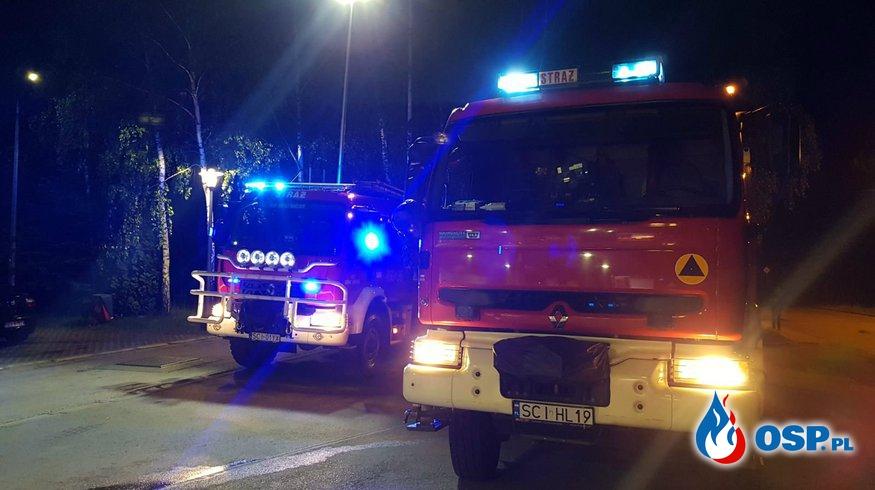 Niebezpieczne substancje na stacji paliw OSP Ochotnicza Straż Pożarna