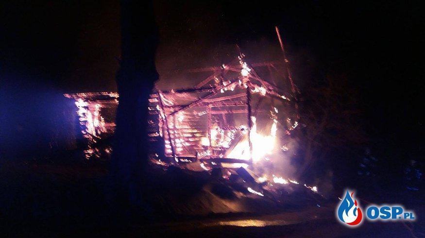 Pożar stodoły w Sułkowicach. OSP Ochotnicza Straż Pożarna