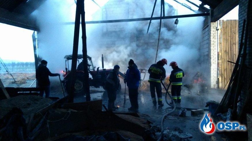 Zapiecki: Pożar stodoły o poranku OSP Ochotnicza Straż Pożarna