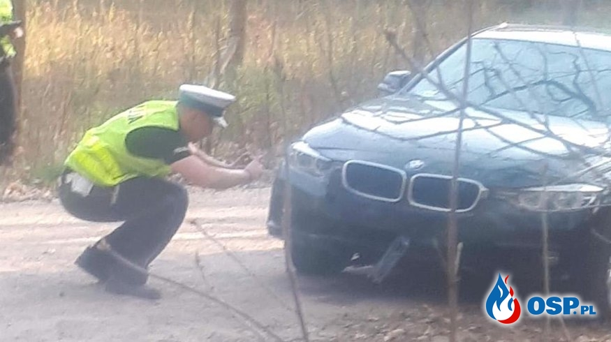To strażak reanimował motocyklistę. Co wiadomo o wypadku z policyjnym BMW? OSP Ochotnicza Straż Pożarna