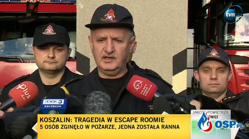 Wiadomo, co stało się w escape roomie. Nowe fakty w sprawie tragedii w Koszalinie. OSP Ochotnicza Straż Pożarna