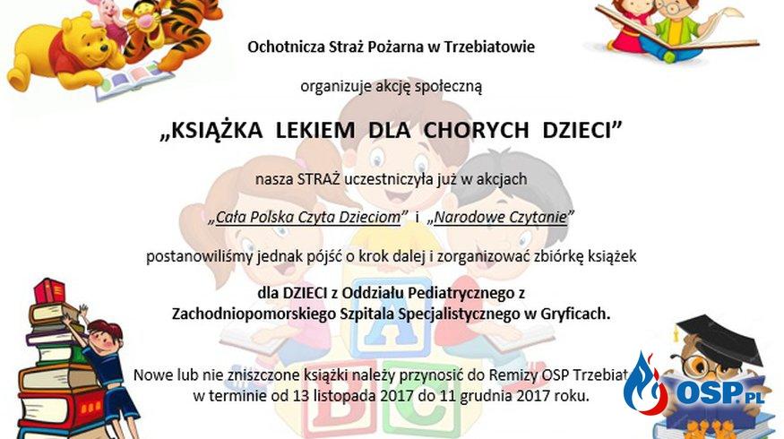Zbiórka Książek dla Chorych Dzieci OSP Ochotnicza Straż Pożarna