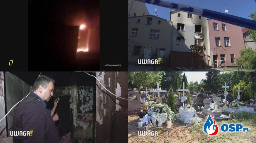 2-letnia dziewczynka i 79-latek zginęli w pożarze kamienicy. Zatrzymano podpalacza [wideo] OSP Ochotnicza Straż Pożarna