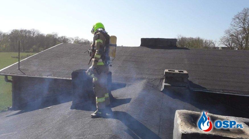 Pożar w Bielinie OSP Ochotnicza Straż Pożarna