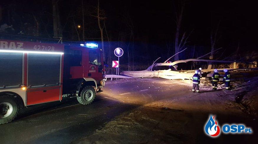 Nocna wichura nad Powiatem Chrzanowskim OSP Ochotnicza Straż Pożarna