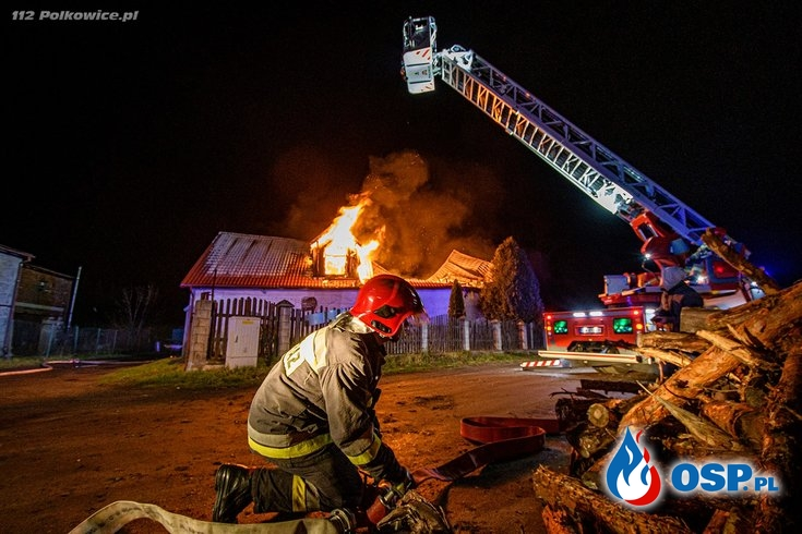 Pożar warsztatu w Chocianowie OSP Ochotnicza Straż Pożarna