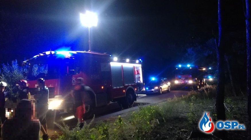 Wypadek motocyklisty na Zalesiu OSP Ochotnicza Straż Pożarna