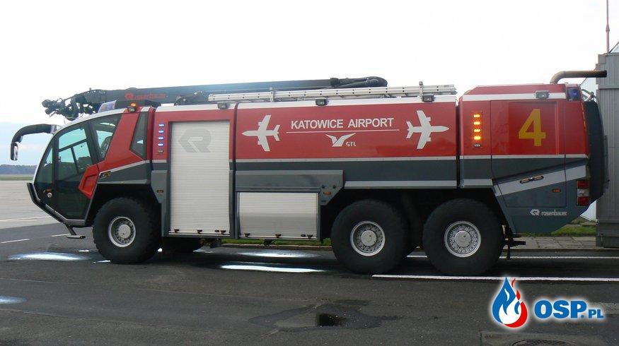Wizyta OSP Lubecko w Lotniskowej Straży Pożarnej w Katowice-Pyrzowice. OSP Ochotnicza Straż Pożarna