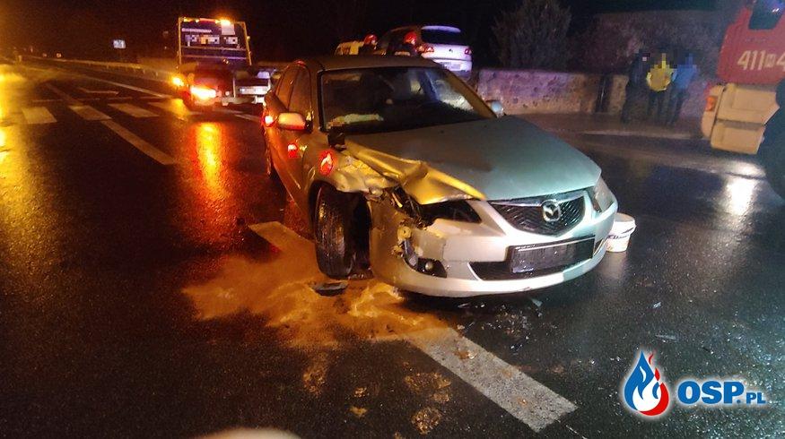 Wypadek na skrzyżowaniu DK60 w Glinojecku OSP Ochotnicza Straż Pożarna