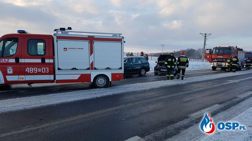 Poranne wypadki / kolizje na obwodnicy Białej DW 414 OSP Ochotnicza Straż Pożarna