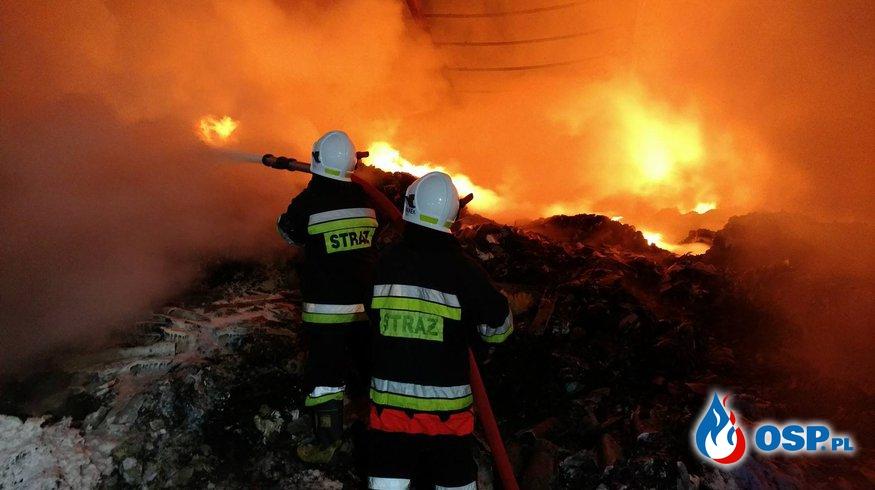 Pożar zabudowań gospodarczych w Miłkowie OSP Ochotnicza Straż Pożarna