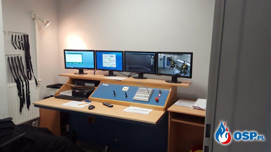 Ćwiczenia w komorze dymowej OSP Ochotnicza Straż Pożarna