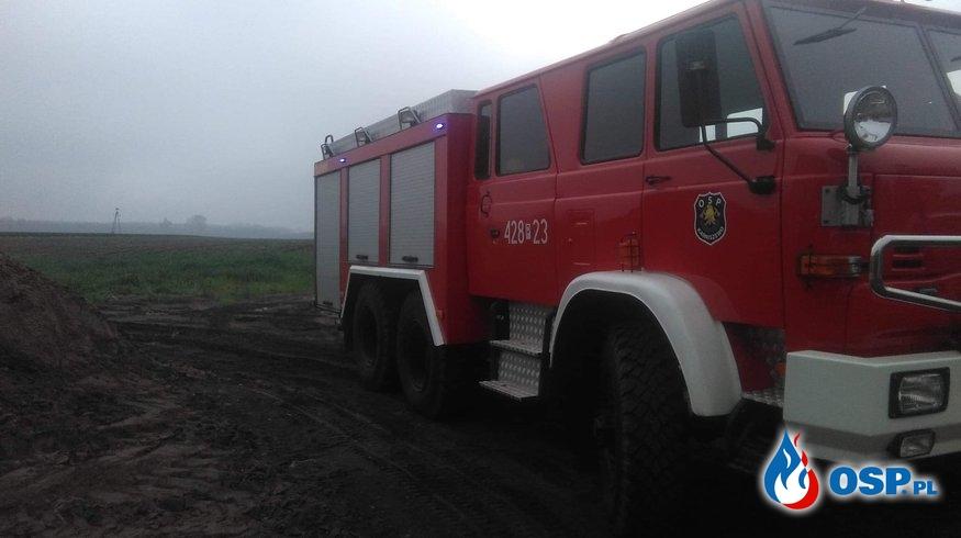 Pożar sadzy w kominie Karniszewo OSP Ochotnicza Straż Pożarna