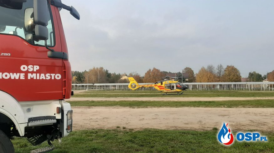 Zabezpieczenie lądowiska LPR - Nowe Miasto OSP Ochotnicza Straż Pożarna