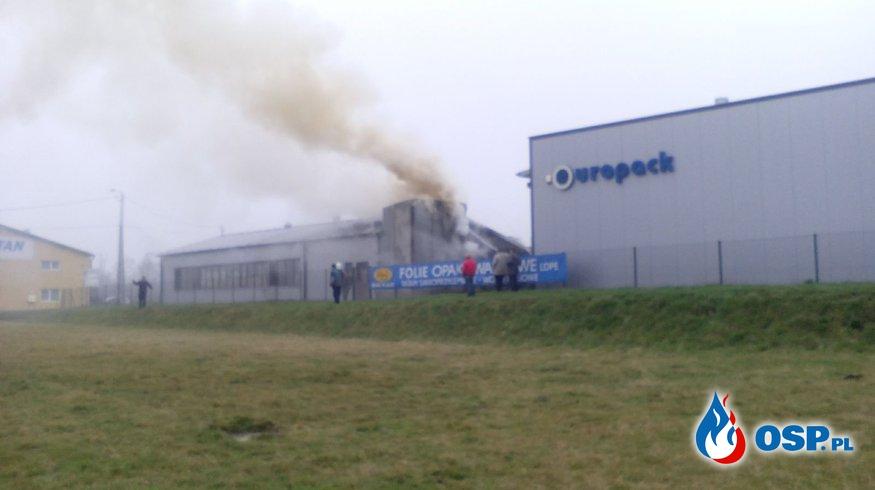 10.03.2016 - Jurków - pożar stolarni OSP Ochotnicza Straż Pożarna