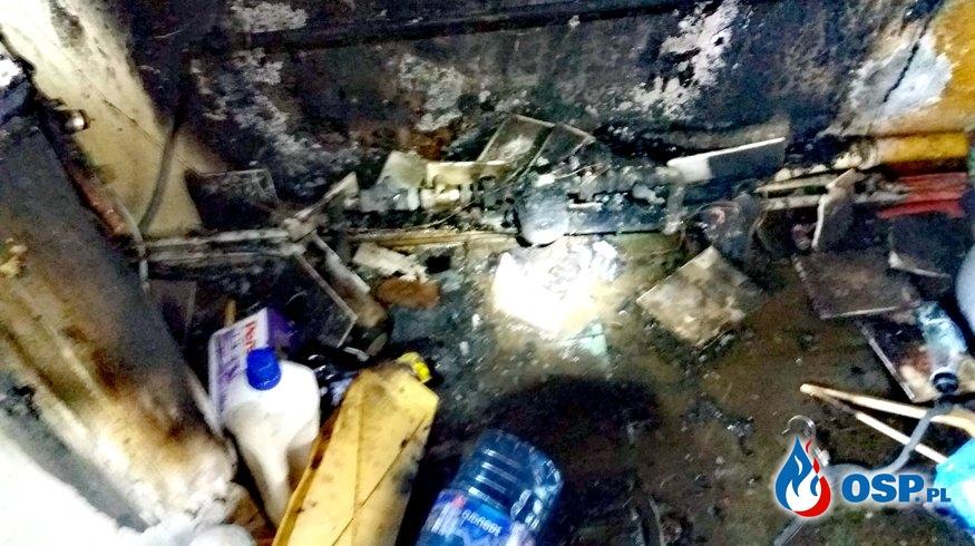 Pożar mieszkania w bloku! OSP Ochotnicza Straż Pożarna