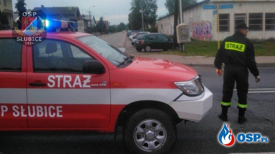 Zabezpieczenie przemarszu OSP Ochotnicza Straż Pożarna