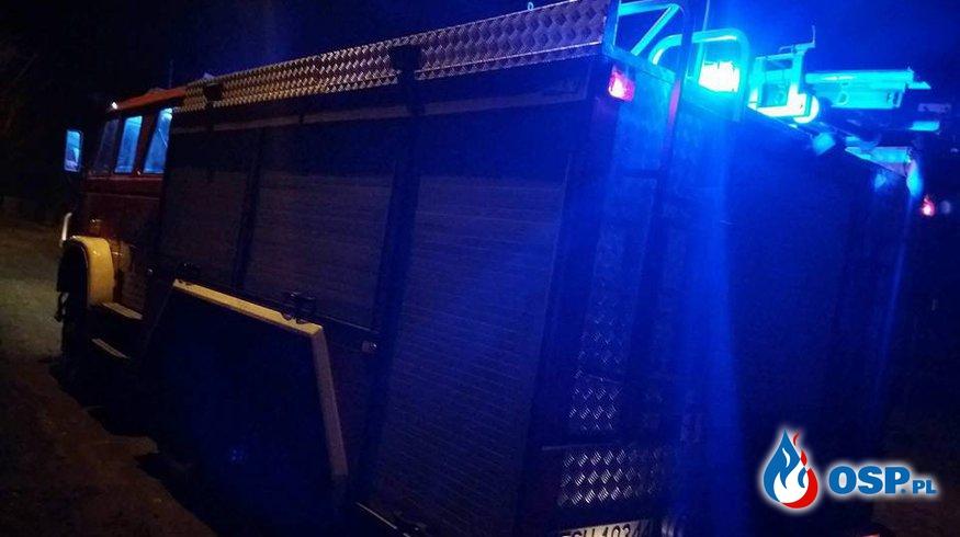 Pożar Komina-Gądków Wielki  OSP Ochotnicza Straż Pożarna