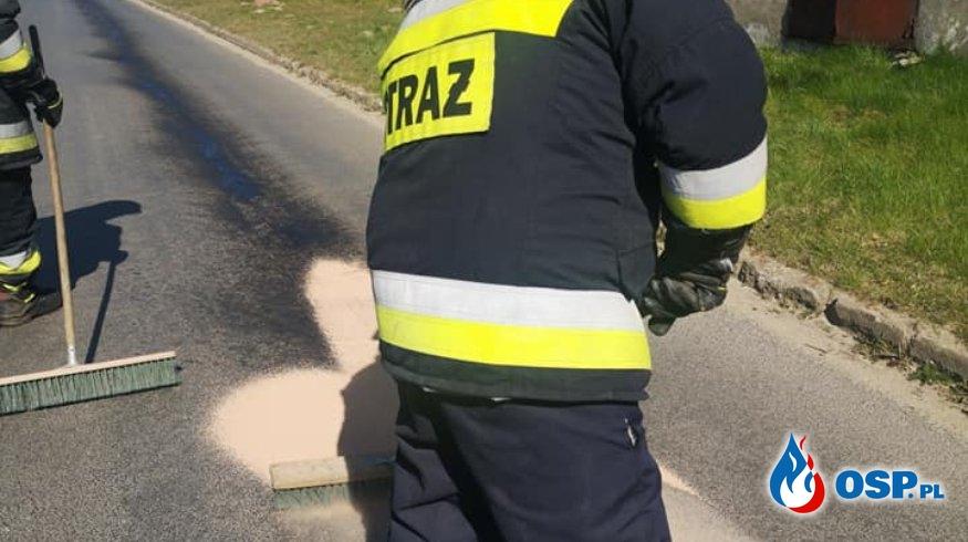 Nowa Wieś - substancja ropopochodna OSP Ochotnicza Straż Pożarna