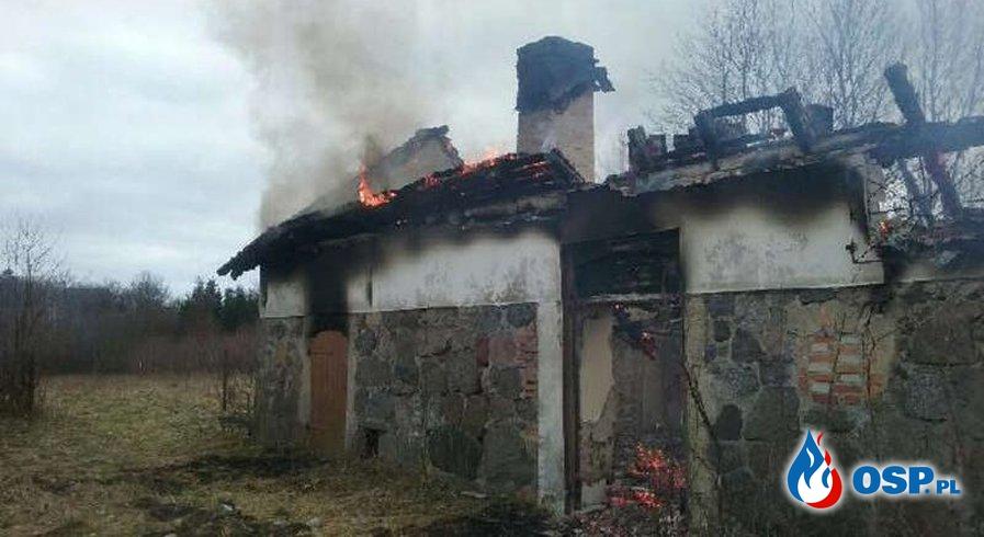 Pożar budynku w Wygodzie, 30.03.2017 OSP Ochotnicza Straż Pożarna