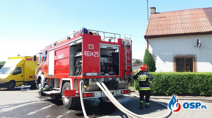 07.05.18 12:09 - POŻAR ZABUDOWAŃ GOSPODARCZYCH, Dziarnowo  OSP Ochotnicza Straż Pożarna