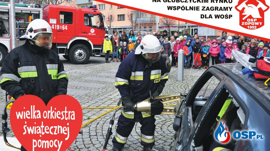 Pokaz OSP Zopowy na finale WOŚP w Głubczycach OSP Ochotnicza Straż Pożarna
