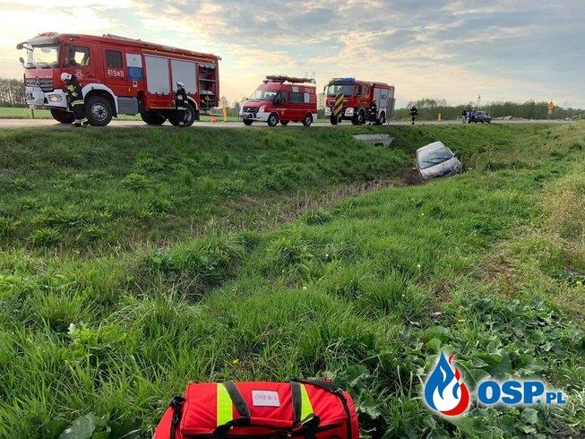 Kolizja drogowa na DK7 OSP Ochotnicza Straż Pożarna