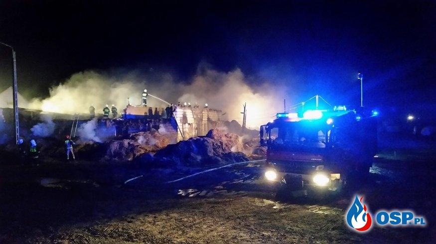 Pożar bardzo duży w Ciemnoszyjach gm. Grajewo OSP Ochotnicza Straż Pożarna