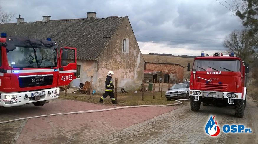 #05/2017  Pożar przewodu kominowego m.Pokrzywy OSP Ochotnicza Straż Pożarna