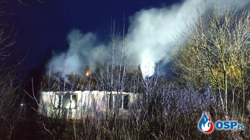 Pożar budynku mieszkalnego Pawłowo 2019 OSP Ochotnicza Straż Pożarna