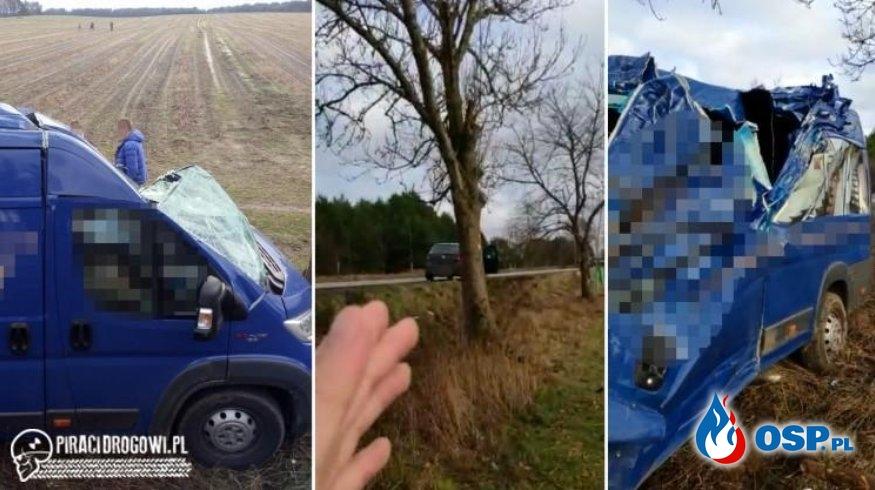 """Kierowca busa zginął w wypadku. """"Kilkanaście aut go minęło, nikt się nie zatrzymał"""". OSP Ochotnicza Straż Pożarna"""