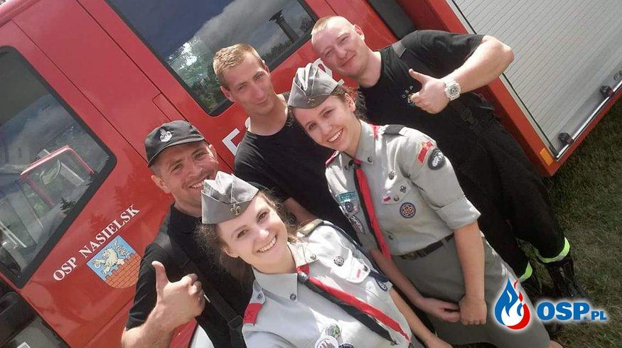 Harcerze z wizytą w naszej jednostce OSP Ochotnicza Straż Pożarna
