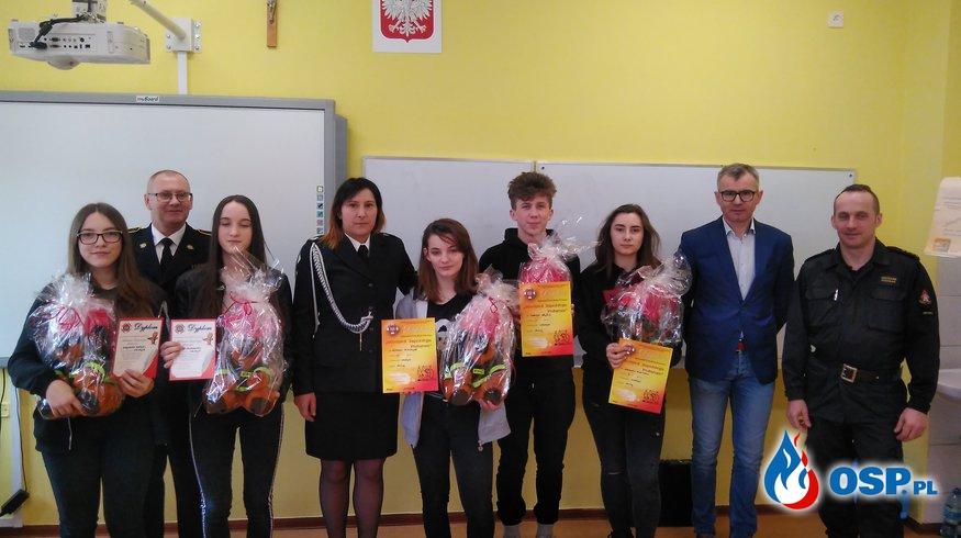 Gminne eliminacje do Ogólnopolskiego Turnieju Wiedzy Pożarniczej - Młodzież Zapobiega Pożarom Moryń 2019 OSP Ochotnicza Straż Pożarna