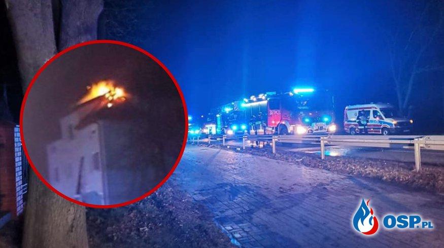 31-latek i dwoje małych dzieci nie żyją. Tragiczny bilans pożaru. OSP Ochotnicza Straż Pożarna