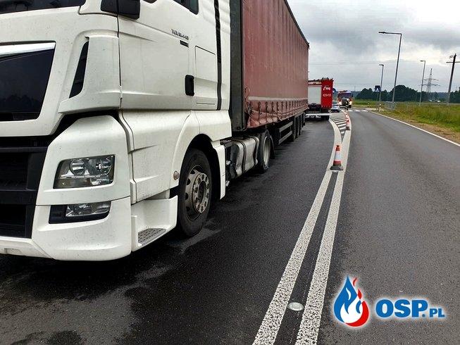 Kolizja drogowa - Obwodnica Babic OSP Ochotnicza Straż Pożarna