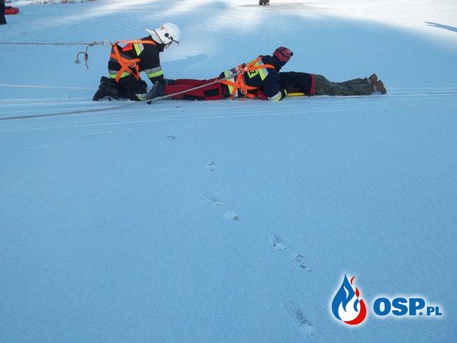 Ćwiczenia z ratownictwa wodno-lodowego OSP Ochotnicza Straż Pożarna