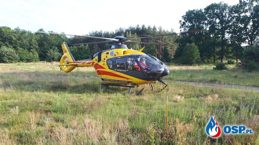 Zabezpieczenie lądowiska LPR OSP Ochotnicza Straż Pożarna