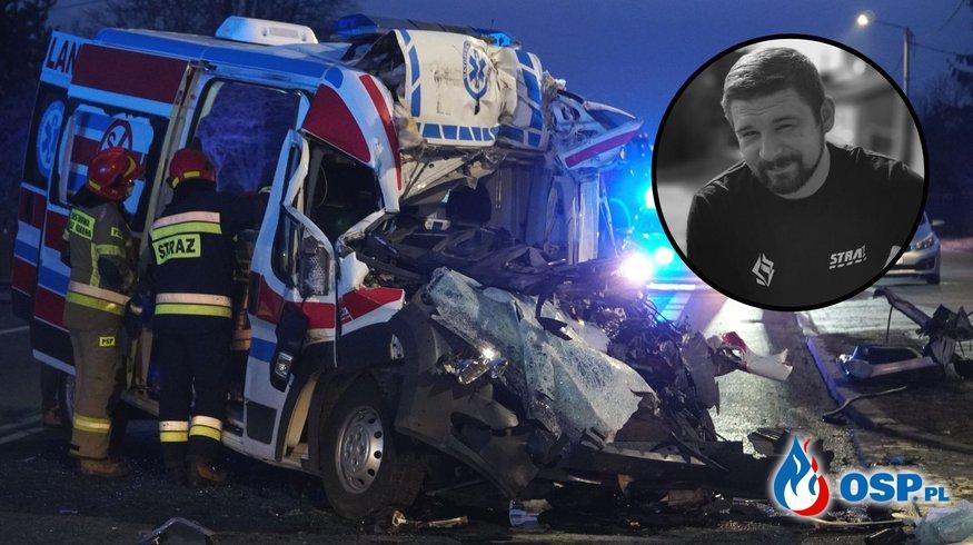 28-letni strażak OSP zginął w wypadku karetki w Zawierciu OSP Ochotnicza Straż Pożarna