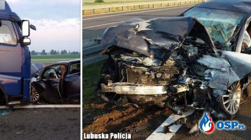 Groźny finał szalonej jazdy pod prąd ekspresową S3. Kierowca miał ponad 2 promile. OSP Ochotnicza Straż Pożarna