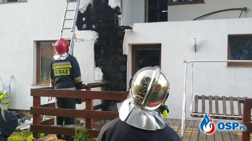 Pożar budynku w Zręcinie przy ul. Szkolnej OSP Ochotnicza Straż Pożarna