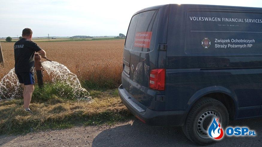 Kontrola PCW i sieci hydrantowej przed sezonem żniwnym OSP Ochotnicza Straż Pożarna