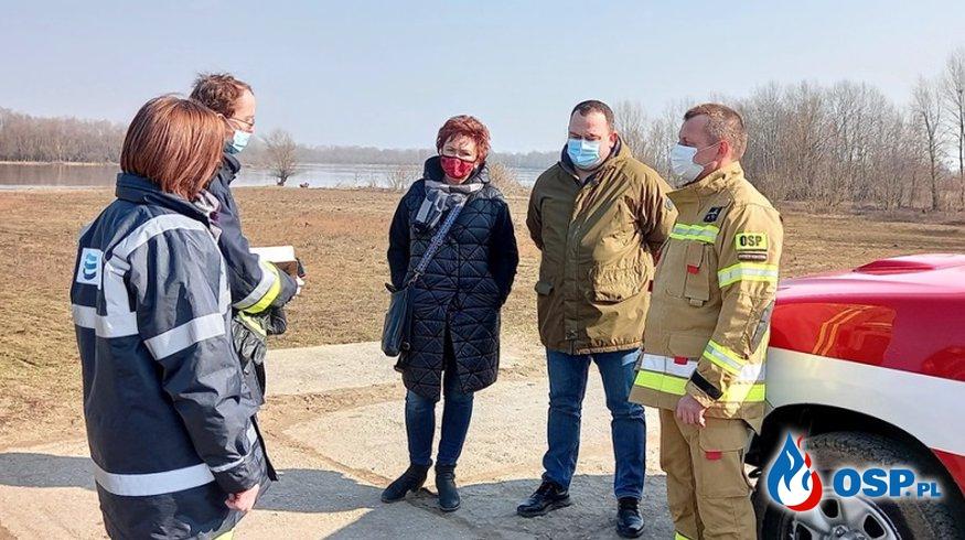 Inspekcja wałów przeciwpowodziowych na terenie Gminy Słubice OSP Ochotnicza Straż Pożarna