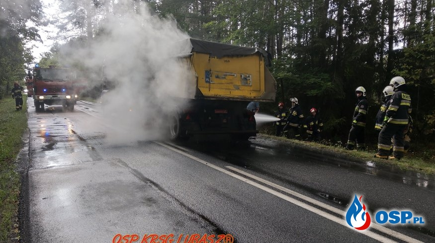 Pożar samochodu ciężarowego OSP Ochotnicza Straż Pożarna