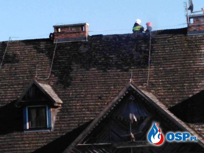 Pożar domu drewnianego w Sarnowie! OSP Ochotnicza Straż Pożarna
